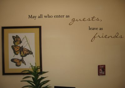 May all who enter as guests leave as friends